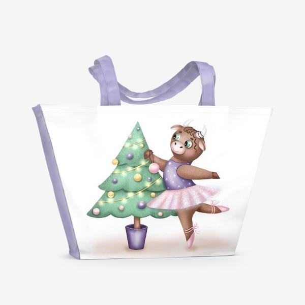 Пляжная сумка «Корова-балерина»
