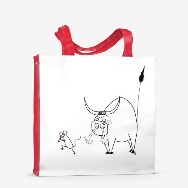 Сумка-шоппер «Год быка 2021! Новый год»