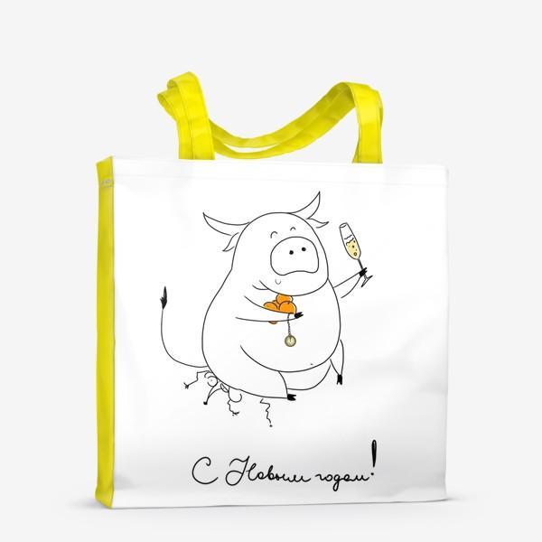 Сумка-шоппер «С новым годом! Год быка 2021!»