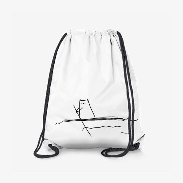 Рюкзак «Кот на маленьком плоту »