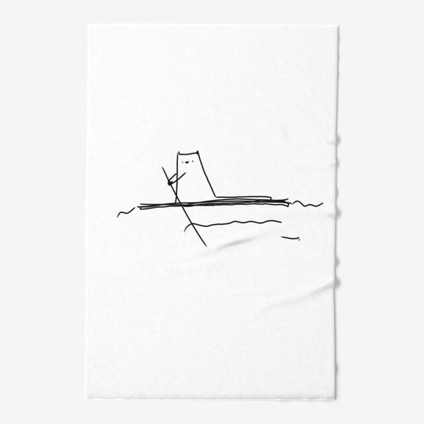 Полотенце «Кот на маленьком плоту »