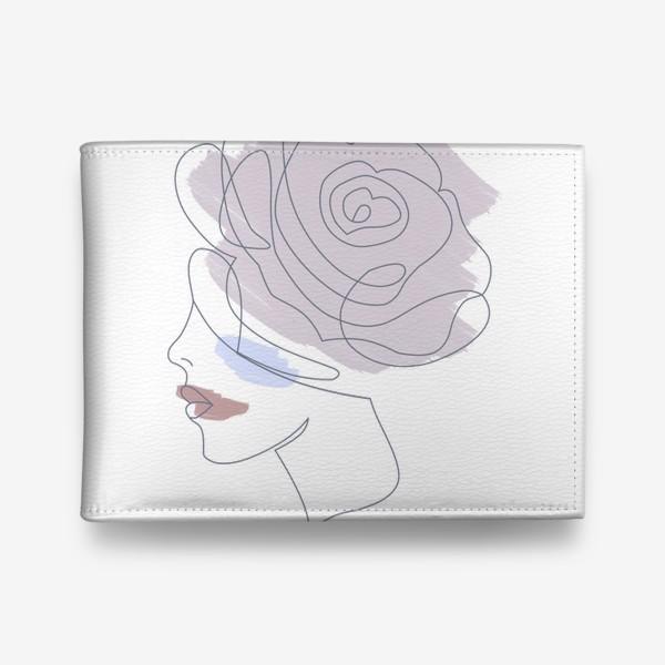 Кошелек «Девушка роза 2. Непрерывная линия»