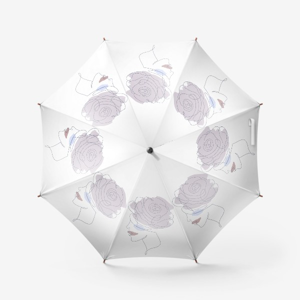 Зонт «Девушка роза 2. Непрерывная линия»