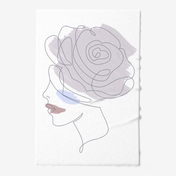 Полотенце «Девушка роза 2. Непрерывная линия»
