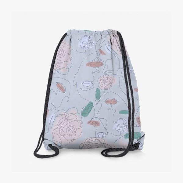 Рюкзак «Рисунок одной линией паттерн»