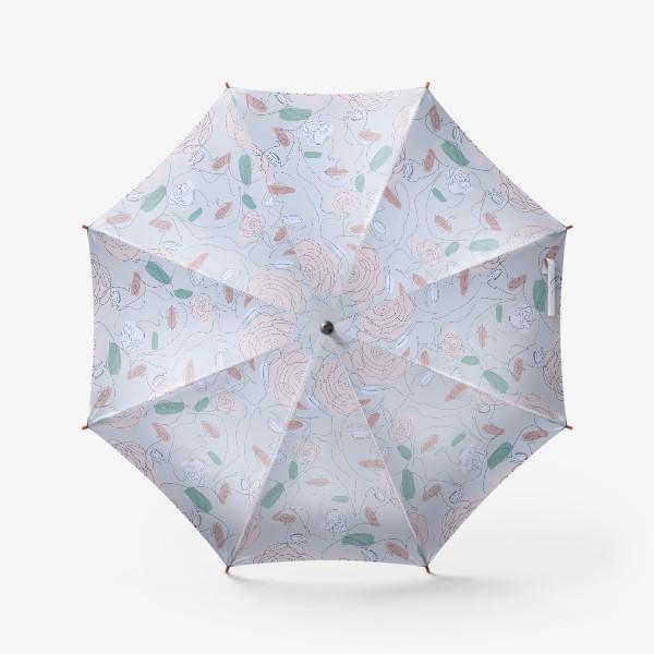 Зонт «Рисунок одной линией паттерн»