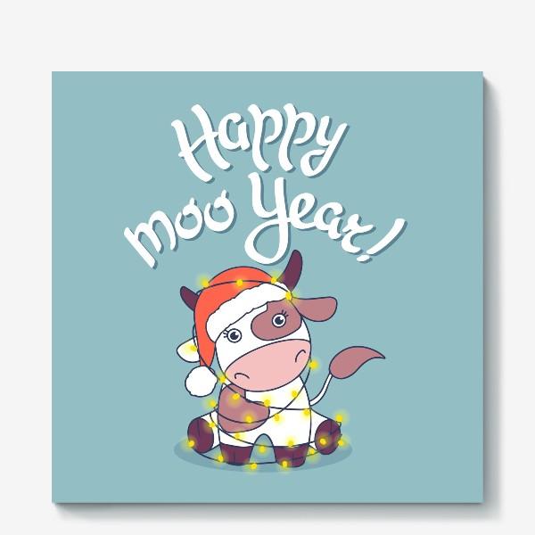 Холст «happy moo year»