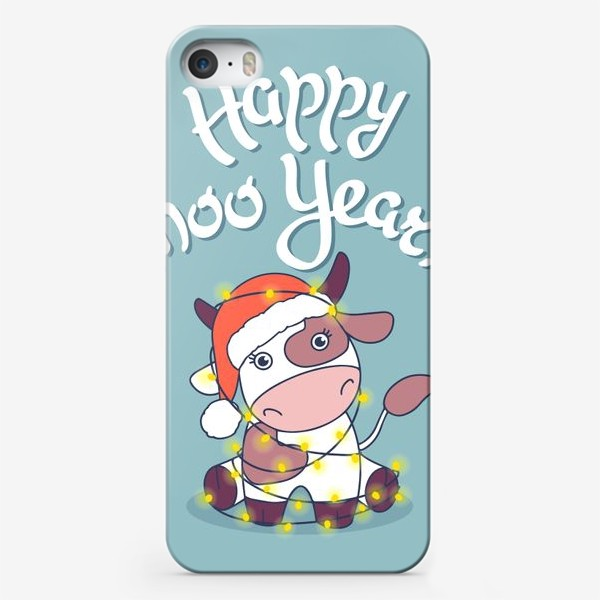 Чехол iPhone «happy moo year»