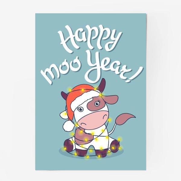 Постер «happy moo year»