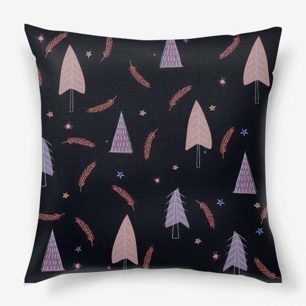 Подушка «новогодние ёлки»