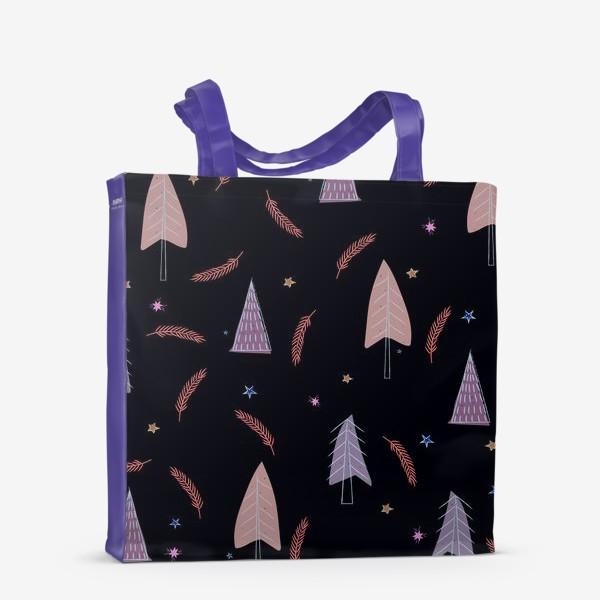Сумка-шоппер «новогодние ёлки»