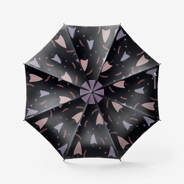 Зонт «новогодние ёлки»