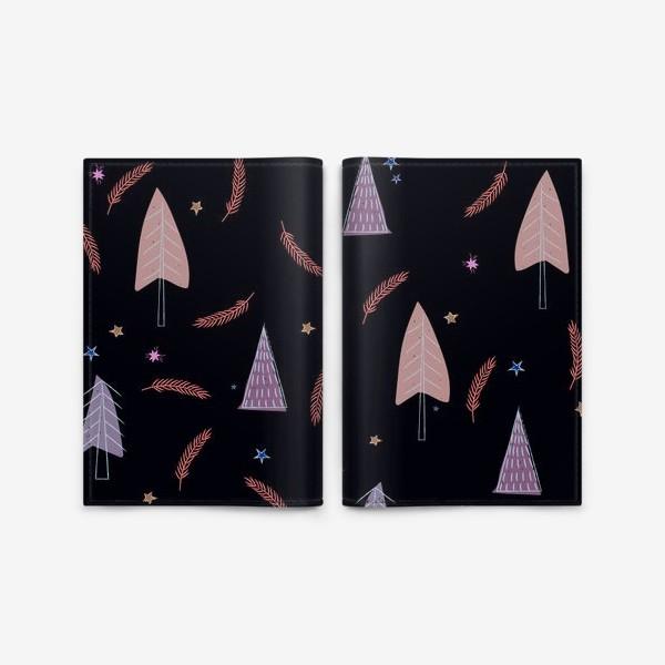 Обложка для паспорта «новогодние ёлки»