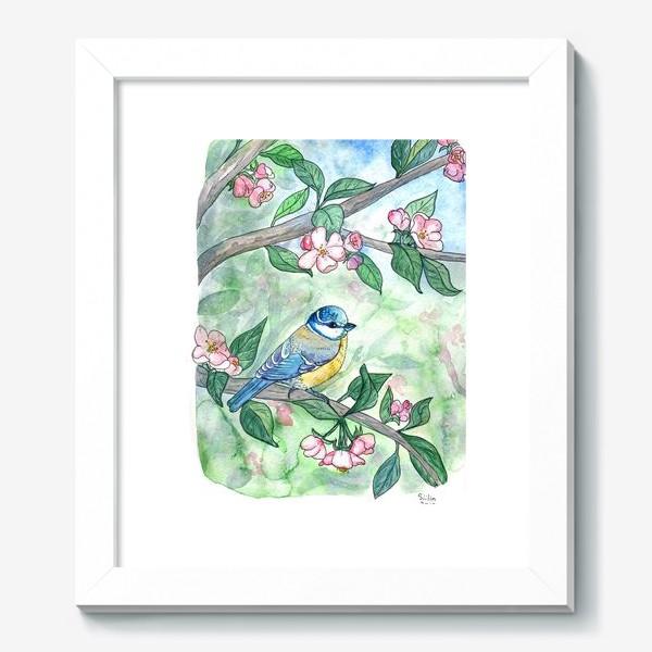 Картина «Синица на яблоне»