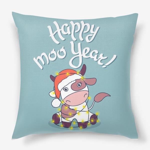 Подушка «happy moo year»