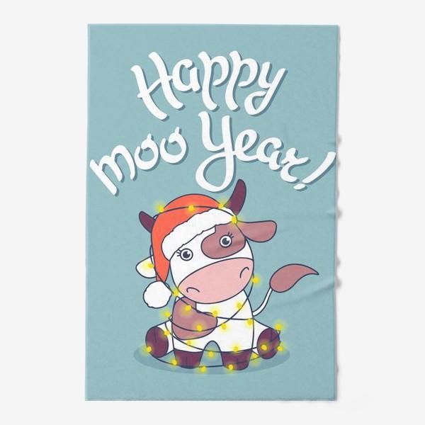 Полотенце «happy moo year»