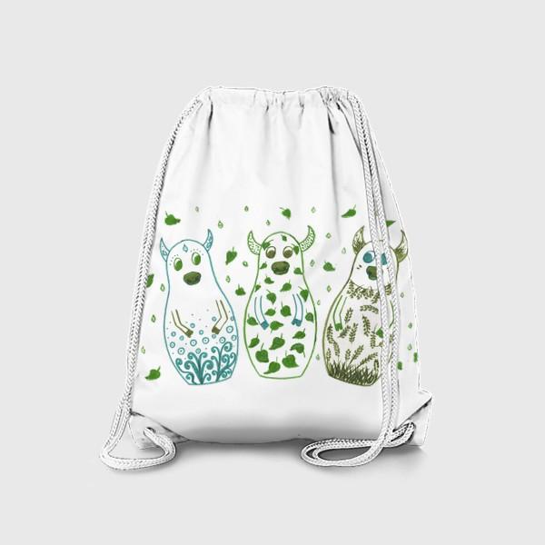 Рюкзак «Быки - матрёшки. Весна»