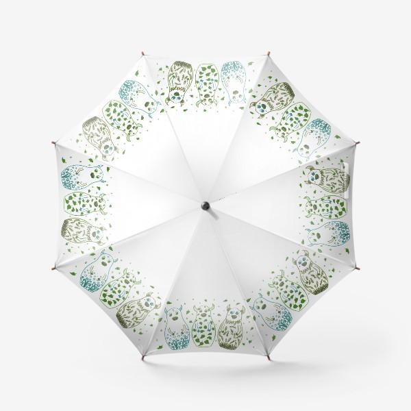 Зонт «Быки - матрёшки. Весна»