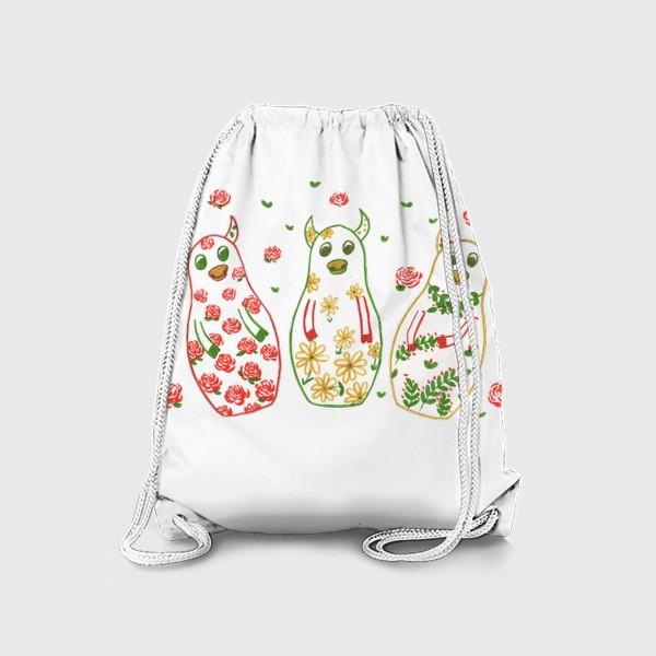 Рюкзак «Быки - матрёшки. Лето»