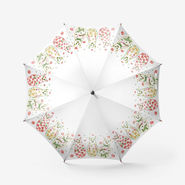 Зонт «Быки - матрёшки. Лето»