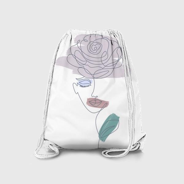 Рюкзак «Девушка роза. Непрерывная линия»