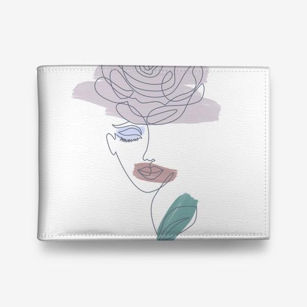 Кошелек «Девушка роза. Непрерывная линия»