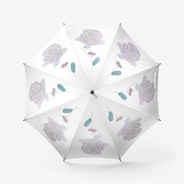 Зонт «Девушка роза. Непрерывная линия»