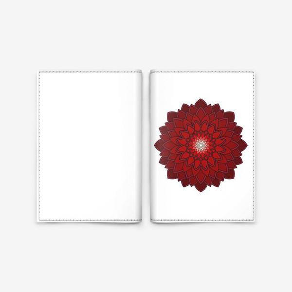 Обложка для паспорта «Мандала красная астра»