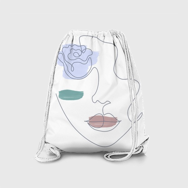 Рюкзак «Девушка роза 3. Непрерывная линия»