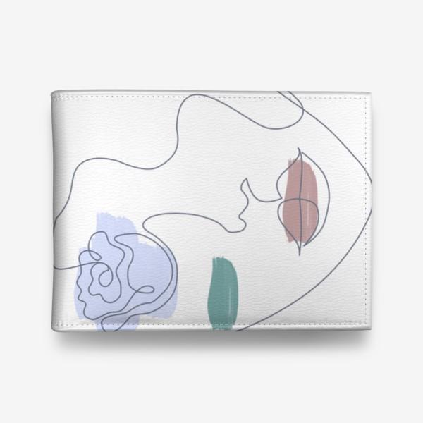 Кошелек «Девушка роза 3. Непрерывная линия»