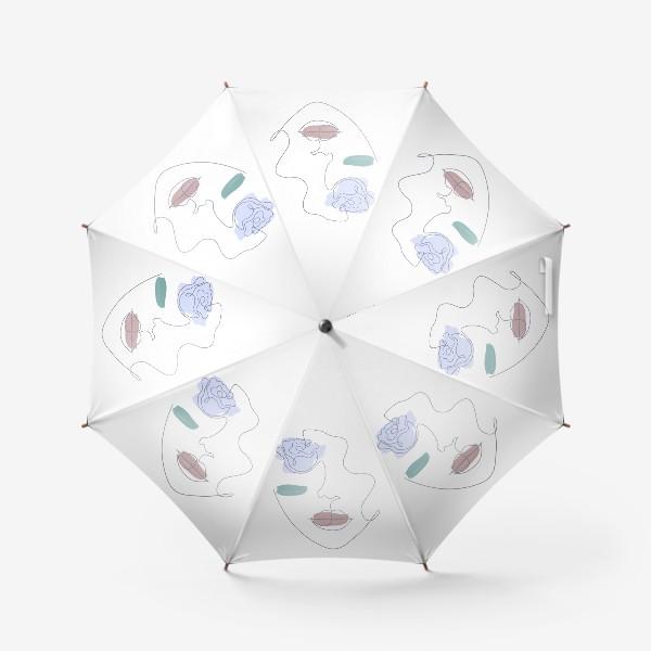 Зонт «Девушка роза 3. Непрерывная линия»