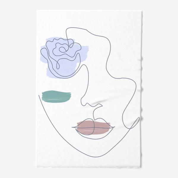 Полотенце «Девушка роза 3. Непрерывная линия»