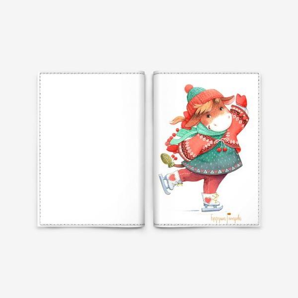 Обложка для паспорта «коровка на льду»