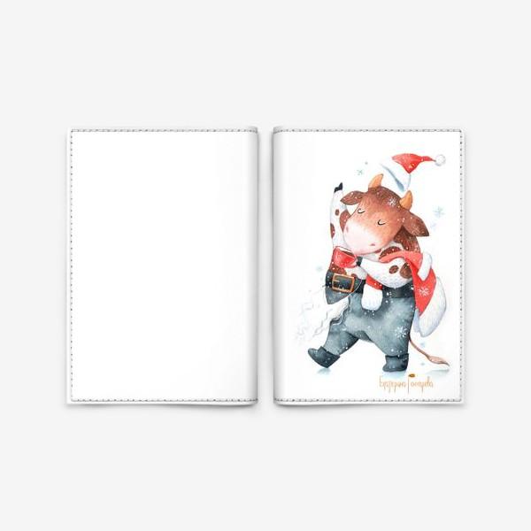 Обложка для паспорта «открытка к году быка»