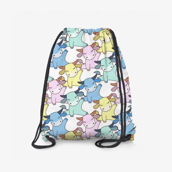 Рюкзак «Йога бычок»