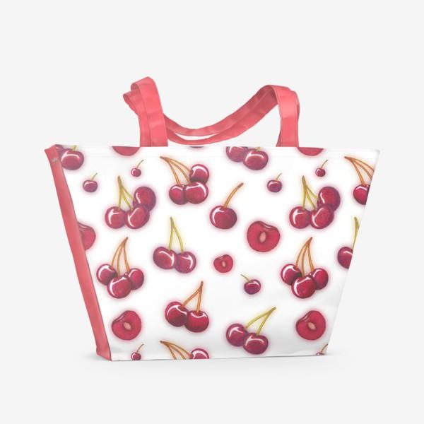 Пляжная сумка «Вишнёвый паттерн»