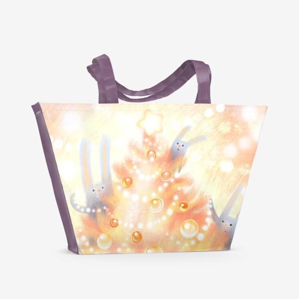 Пляжная сумка «Семейный Новый год»