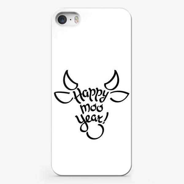 Чехол iPhone «С новым годом быка!»
