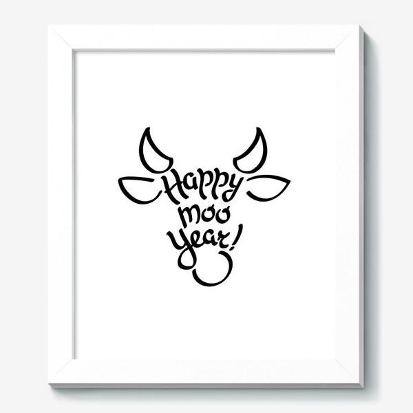 Картина «С новым годом быка!»