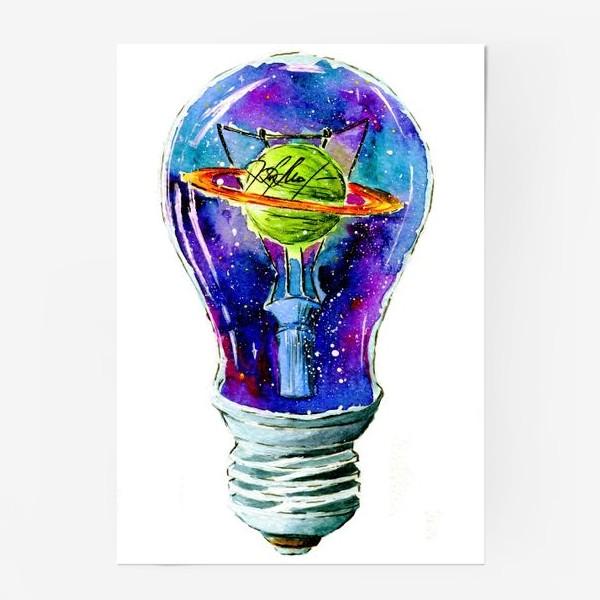 Постер «Космос в лампочке»