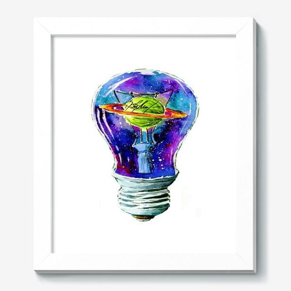 Картина «Космос в лампочке»