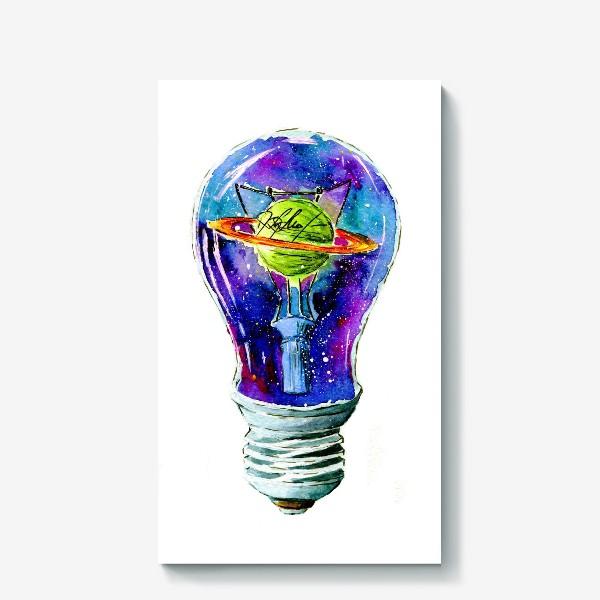 Холст «Космос в лампочке»