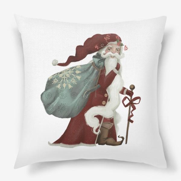 Подушка «Новый год и Рождество, дед Мороз, Санта»