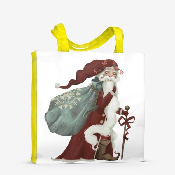 Сумка-шоппер «Новый год и Рождество, дед Мороз, Санта»