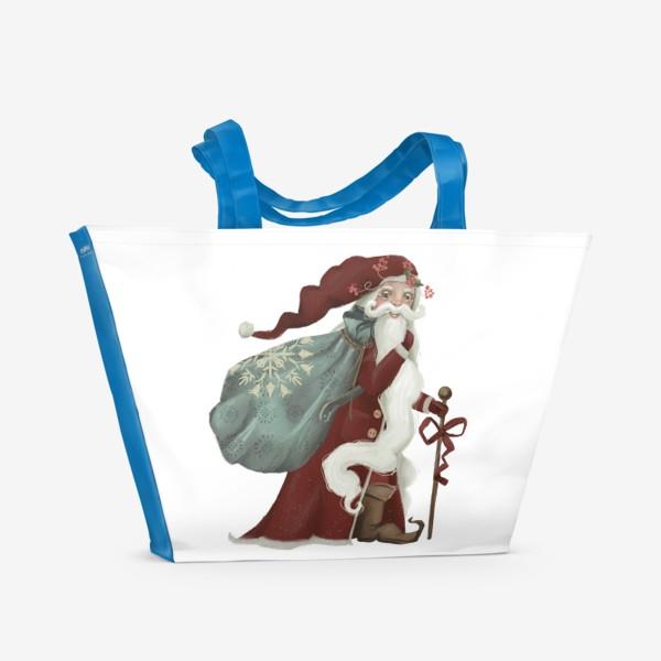 Пляжная сумка «Новый год и Рождество, дед Мороз, Санта»