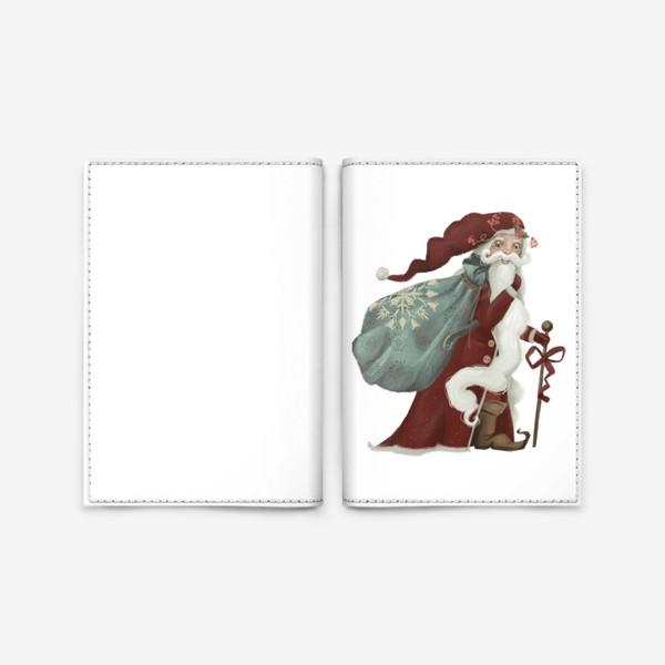 Обложка для паспорта «Новый год и Рождество, дед Мороз, Санта»