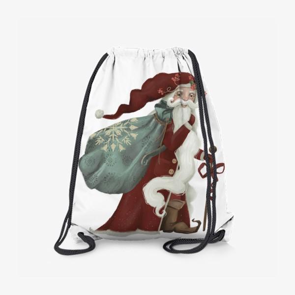 Рюкзак «Новый год и Рождество, дед Мороз, Санта»