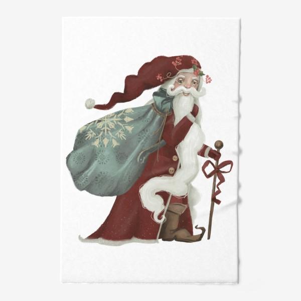 Полотенце «Новый год и Рождество, дед Мороз, Санта»
