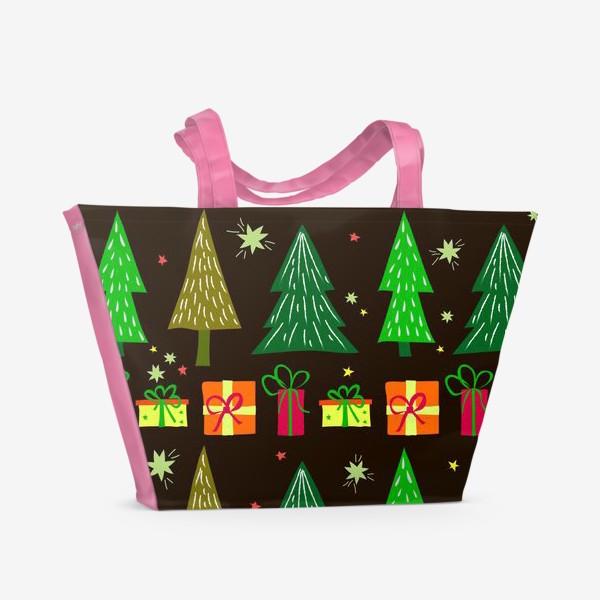 Пляжная сумка «подарки под ёлкой»