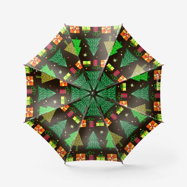 Зонт «подарки под ёлкой»
